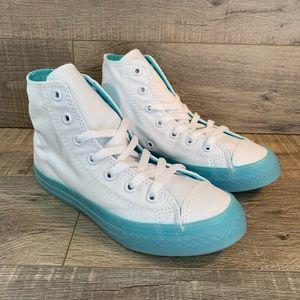 Converse CTAS Hi White Bleached Aqua